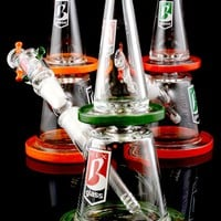 Small GoG Colored Glass Water Pipe - WP1065