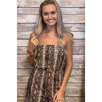 Good As You Romper- Snakeskin