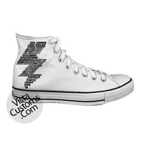Spell Black white Harry Potter  White shoes New Hot Shoes