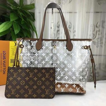 DCCK 2019 New Office LV Louis Vuitton Women Leather Monogram Handbag Neverfull Bags Tote Shoulder Bag Wallet Purse Bumbag  Discount Cheap Bags Best Quality