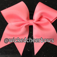 Cheer Bow - Coral Bow