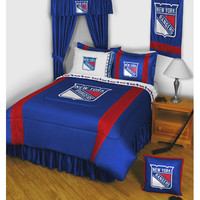 NHL New York Rangers Bedding Set Hockey Bed: Full