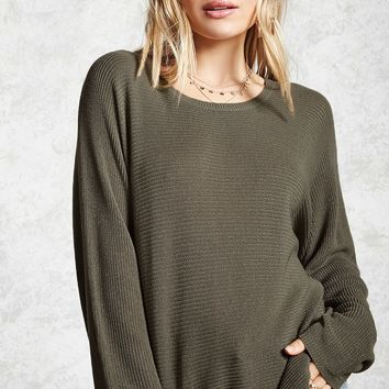 Ribbed Knit Boyfriend Sweater