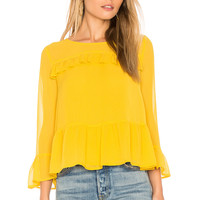 cupcakes and cashmere Katlyn Top in Safron Yellow | REVOLVE