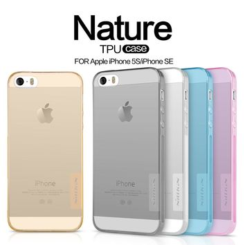 NILLKIN Case for iPhone SE 5S case Nature Transparent Soft TPU Case back cover for iphone 7 7 plus capa free shipping