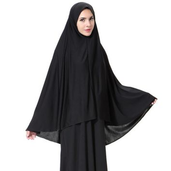 Women Black Face Cover Abaya Islamic Khimar Muslim Clothes Headscarf Robe