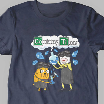 New Cooking Time Breaking Bad Adventure Time Parody T-Shirt Kids and Adult Sizes