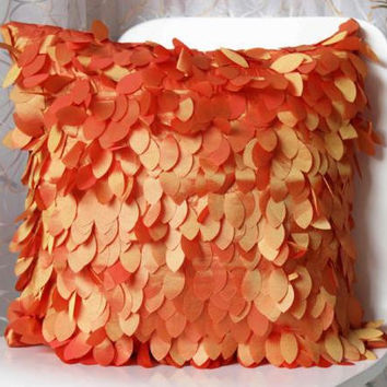 Cushion Without Inner Leaves Style Feather Square Christmas Decorative Pillow No Inner Filled