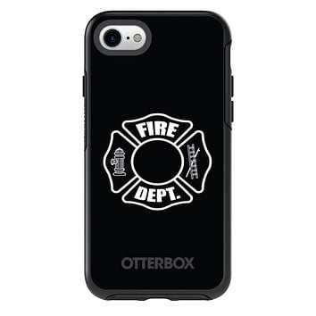 DistinctInk™ OtterBox Symmetry Series Case for Apple iPhone / Samsung Galaxy / Google Pixel - White Fire Department
