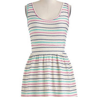 Tulle Clothing Stripe of Good Luck Dress | Mod Retro Vintage Dresses | ModCloth.com