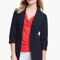 MICHAEL Michael Kors Ruched Sleeve Boyfriend Jacket (Regular