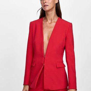 BLAZER WITHOUT LAPELSDETAILS