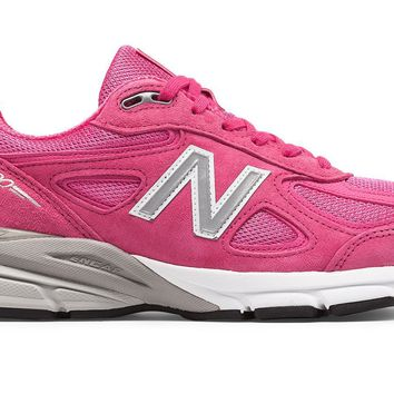 qiyif MEN'S NEW BALANCE 990v4 - Pink Ribbon (Breast Cancer Awareness Edition)