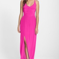 Women's Charlie Jade Strappy Back Silk Maxi Dress,