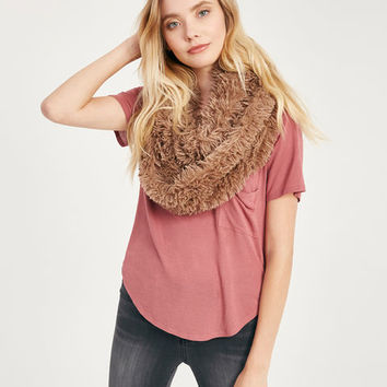 Faux Fur Double Wrap Infinity Scarf | Wet Seal