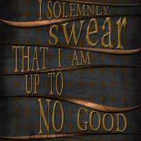 I Solemnly Swear...  Harry Potter Typography Art