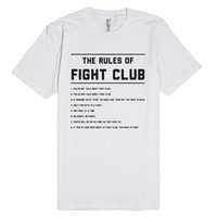 The Rules Of Fight Club-Unisex White T-Shirt