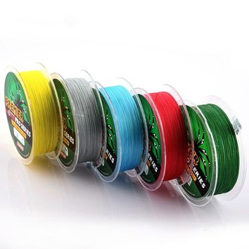 100m 4 Stands 6LB To 100LB  PE Braided Fly Fishing Lines 11 Colors Super PE Line Strong Strength Fish Braided Wire Tackle B4