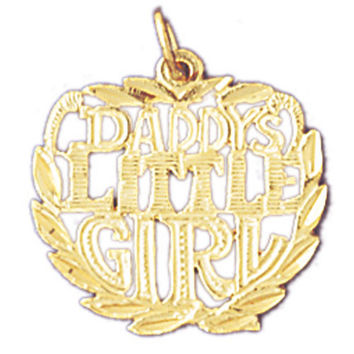 14K GOLD SAYING CHARM - DADDY'S LITTLE GIRL #9877