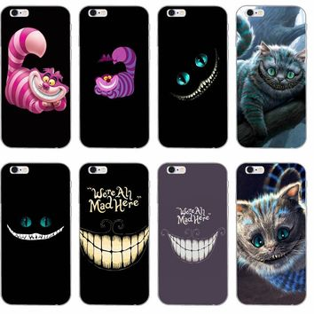 Cheshire cat Alice In Wonderland Slim phone case For Samsung Galaxy S3 S4 S5 S6 S7 edge S8 Plus mini Note 3 4 5 Core 2 Alpha