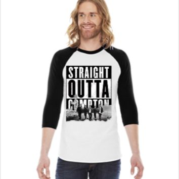 STRAIGHT OUTTA COMPTON -  3/4 Sleeve Raglan Shirt