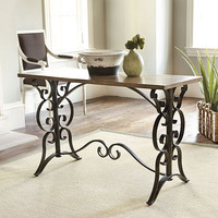 Scroll Table Desk  | Furniture | Ballard Designs