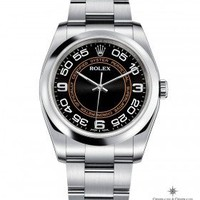 Rolex Oyster Perpetual Black and Orange Dial