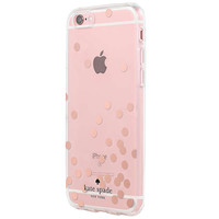 kate spade new york Hardshell Case for iPhone 6/6s, Confetti Dot Rose Gold Foil/Clear at John Lewis