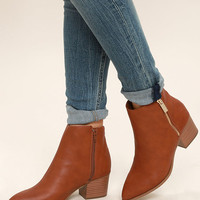 Illusion Tan Pointed Ankle Booties
