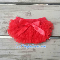 Red Ruffle Diaper Cover Bloomers Only - Newborn Diaper Cover - 4th of July Diaper Cover - Fourth of July Bloomers - Chiffon Bloomers -Ruffle