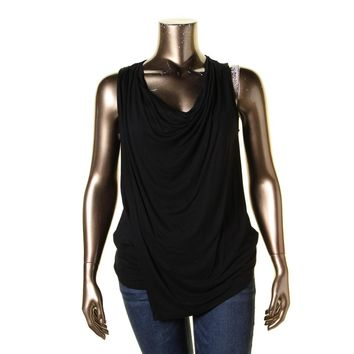 Lauren Ralph Lauren Womens Faux Wrap Cowl Neck Tank Top