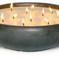 Water Lotus Bennett Candle, Gunmetal, Filled Candles