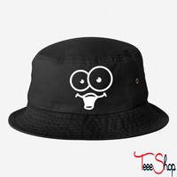 funny face bucket hat