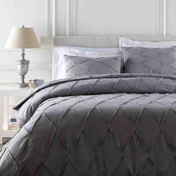 Aiken Bedding ~ Gray/Metallic/Silver