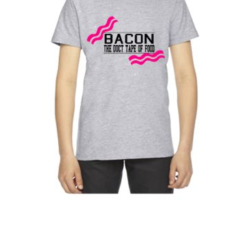 Bacon- Duct tape of food - Vector - Youth T-shirt