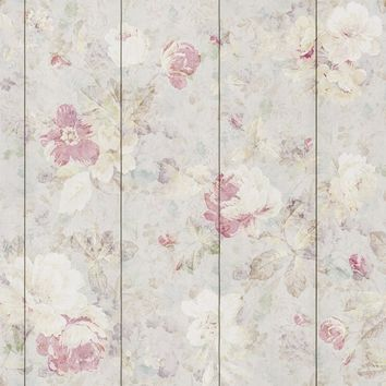 Pastel Flowers II Removable Wallpaper