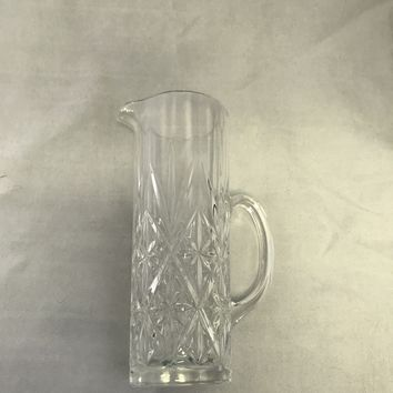#0081 Crystal pitcher or creamer cut glass,