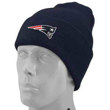 New England Patriots Knit Hat: Navy Stadium Cuffed Knit Cap