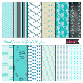 Breakfast at Tiffanys Digital Papers