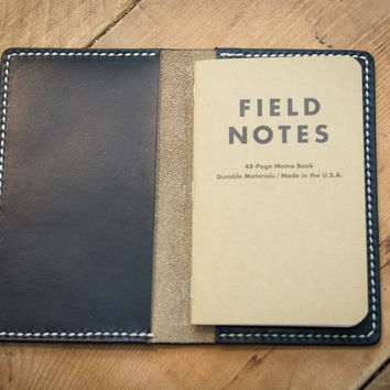 Black Leather Field Notes Cover