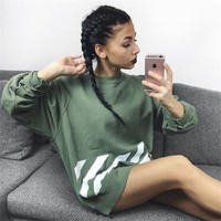 The new round neck long sleeves loose casual printing [10390947911]