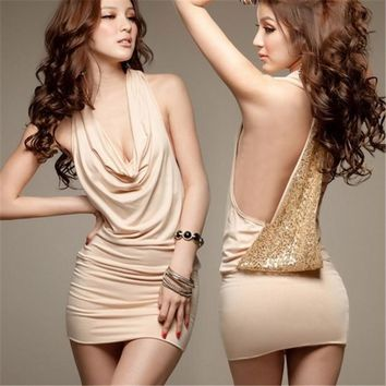 Women's Club Side Backless Dress