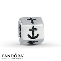 Pandora Charm Heart Anchor Sterling Silver
