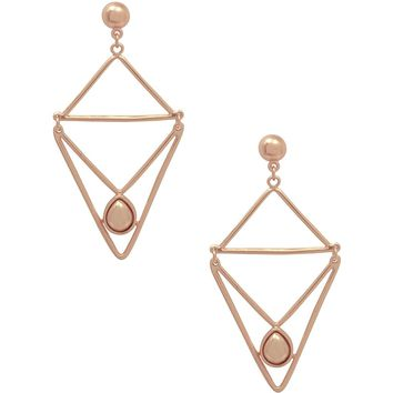 TALIA GEO DANGLE EARRING IN ROSE GOLD