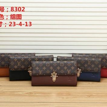 Louis Vuitton Lv Small Leather Goods All Collections Long Chain Wallet 5 Colors #2661