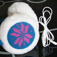 Handmade Knitting Keep Warm Earmuff Earphone 287