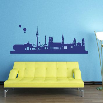 Munich Skyline Wall Decal