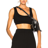 T by Alexander Wang Fleece Bralette in Black | FWRD
