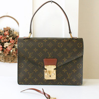 Louis Vuitton Bag Concorde Vintage Handbag Monogram Brown Authentic
