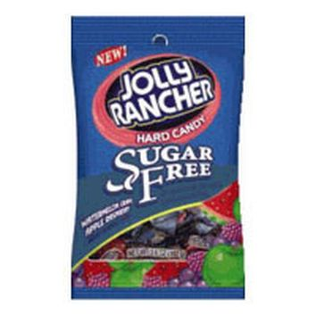 Hersheys Jolly Rancher Sugar Free Hard Candy Peg Bag, Assortment - 3.6 Oz / Bag, 12 Ea